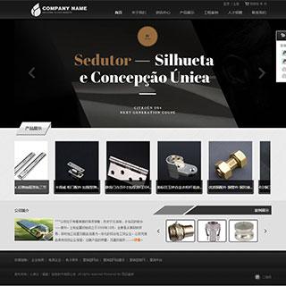 大气黑色机械企业网站源码 php通用企业网站源码
