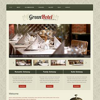 墨绿色时尚家居装修企业网页模板