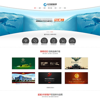 简洁大气网站建设网络设计类企业织梦模板