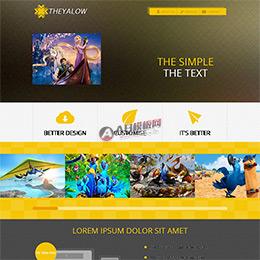 html5黄色质感动漫动画制作公司网站模