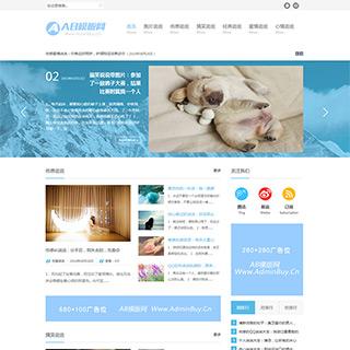 宽屏大气的html5博客文章资讯模版