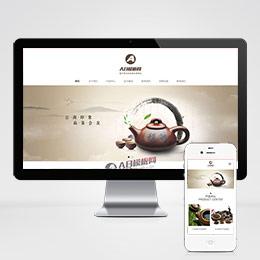 (自适应手机版)响应式茶叶网站源码 绿色产品展示类企业织梦自适应模板