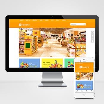 (自适应手机版)响应式食品百货英文外贸类网站织梦模板 HTML5玩具外贸网站源码下载