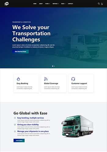 大气的物流行业公司官网HTML模板