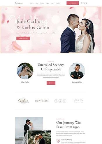 精美的婚礼活动策划摄影HTML模板