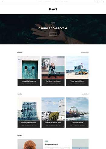 简约的旅游图文相册博客HTML模板