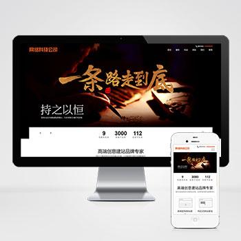 (自适应手机端)网站建设类pbootcms模板 响应式高端网络公司网站源码下载