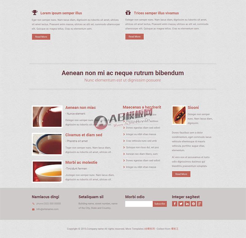 品茶休闲茶具文化html5网站模板