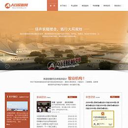 设计规划类网站源码 旅游规划设计研究院类网站织梦模板