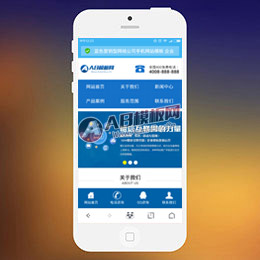 (手机版)蓝色营销型网络公司手机网站