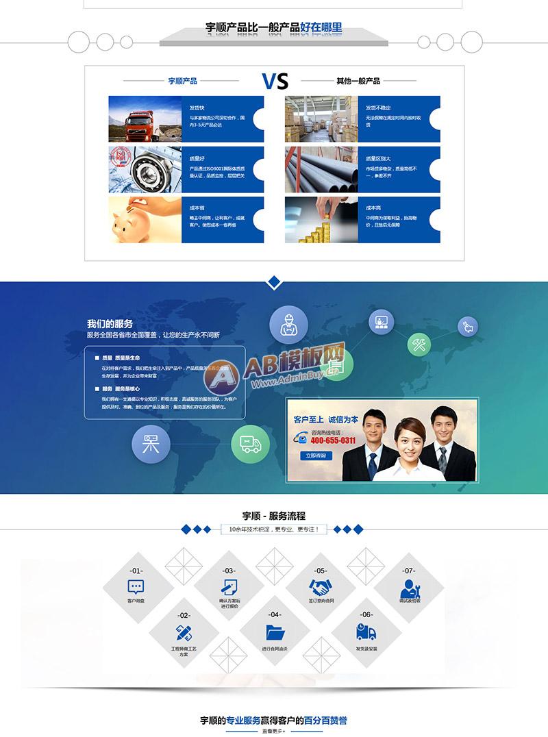 (带手机版数据同步)营销型排水系统管道类企业织梦模板 水管五金行业营销型网站源码下载