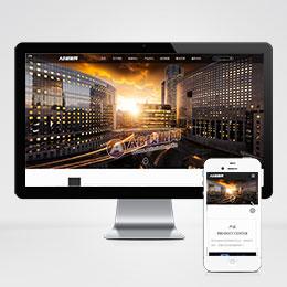 (自适应手机版)响应式HTML5高端电子机械企业织梦模板 高新技术设备企业网站源码下载