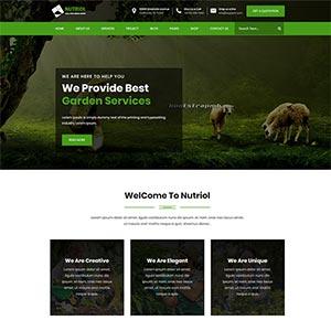 色的花园设计服务Bootstrap网站html模板