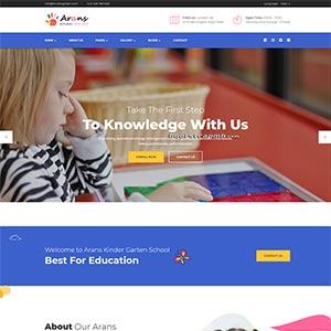 幼儿园早教中心网站Bootstrap响应式模板