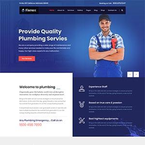 管道修理家政保洁公司网站Bootstrap模板