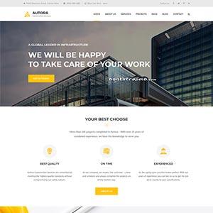 HTML5响应式的房地产建筑企业网站模板静态HTML模板