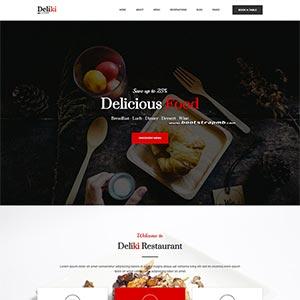 大气餐饮美食网站Bootstrap静态html网站爱博体育线路