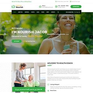 绿色的健康指导生活服务HTML5网站爱博体育线路