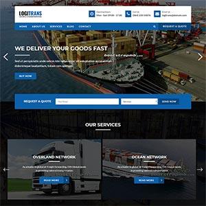 蓝色物流和运输公司官网模板快递行业静态html模板