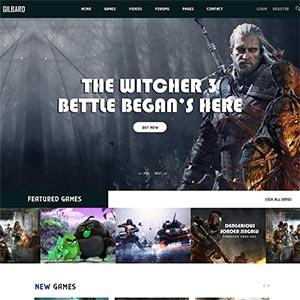 响应式游戏网站Bootstrap模板