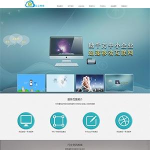 IT互联网网络建站服务公司官网html静态模板