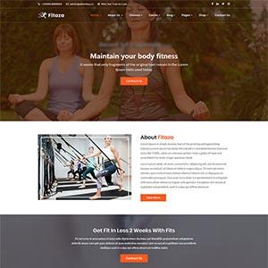 精美的健身瑜伽类Bootstrap静态HTML网站模板