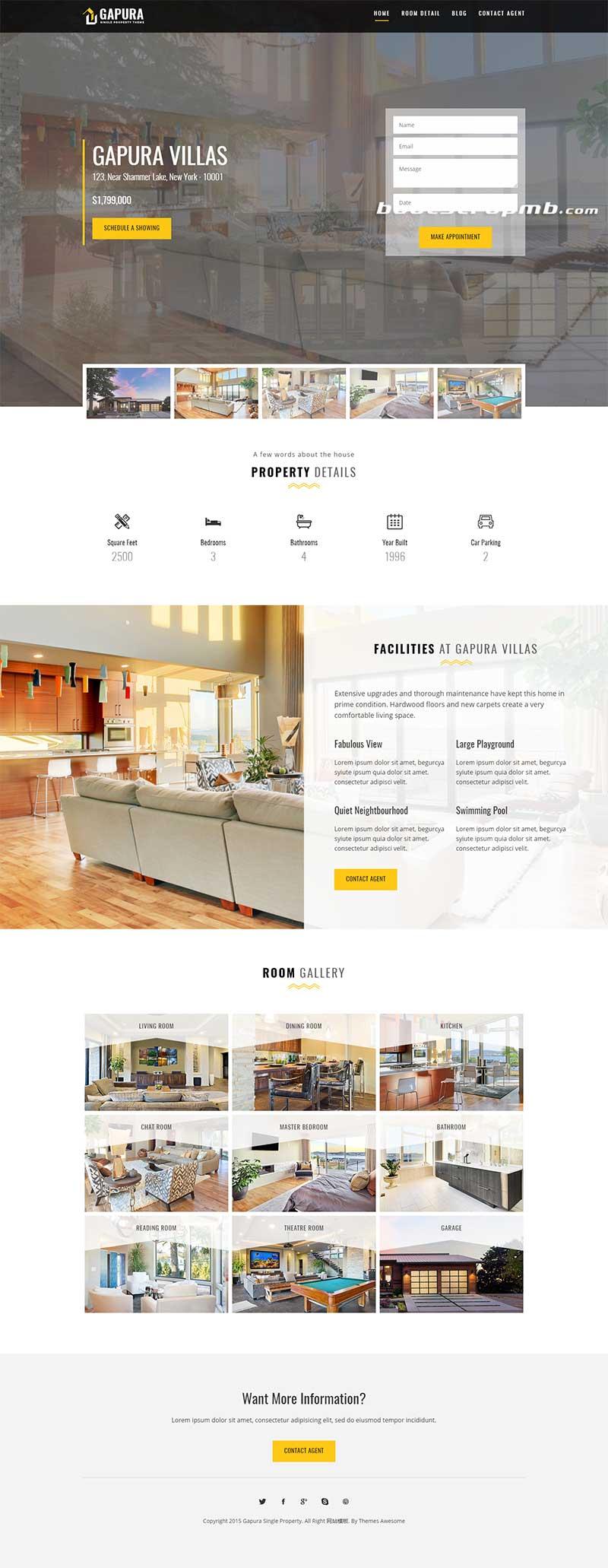 房产中介公司网站静态HTML模板