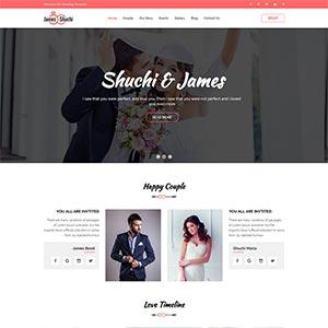 红色的婚纱婚礼摄影公司HTML静态bootstrap模板