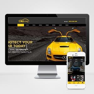 (带手机版数据同步)汽车美容维修贴膜工厂网站织梦模板 汽车改装喷漆维修网站源码下载