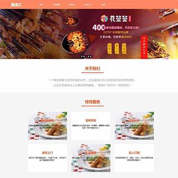 健康美食交流网站静态html模板