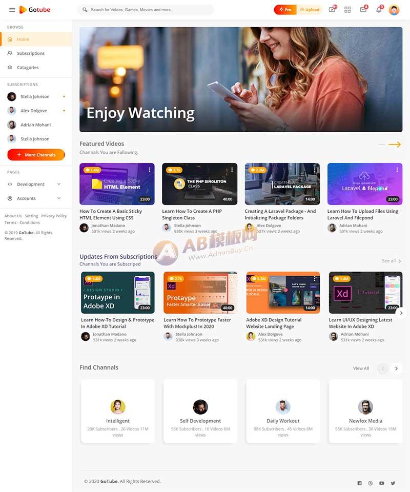 网络视频共享平台网站响应式静态HTML爱博体育线路