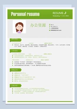 竞聘市场营销 推广助理 主管个人简介Word简历模板