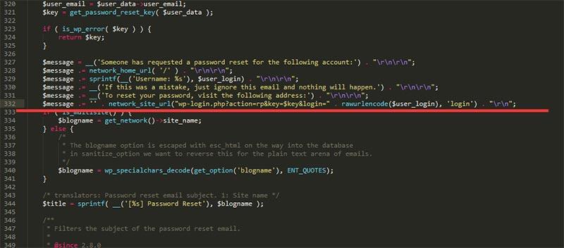 """WordPress密码重设提示""""您的密码重设链接无效,请在下方请求新链接"""""""