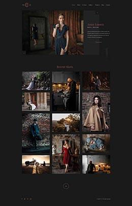精美摄影作品集网站html静态模板