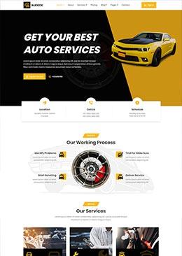 英文汽车改装维修公司官网html模板