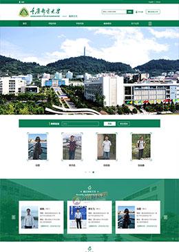绿色通用的大学学校官网静态html模板