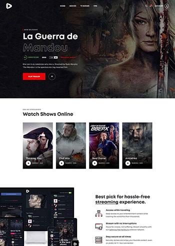 在线3D高清影院视频静态html网页模板