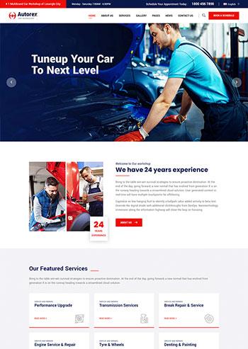 品牌汽车服务汽车维修网站HTML静态模板