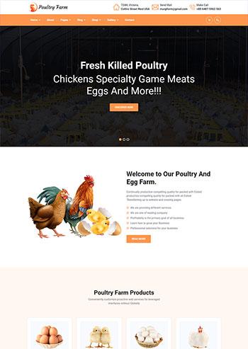 有机家禽养殖公司静态网站响应式html模板