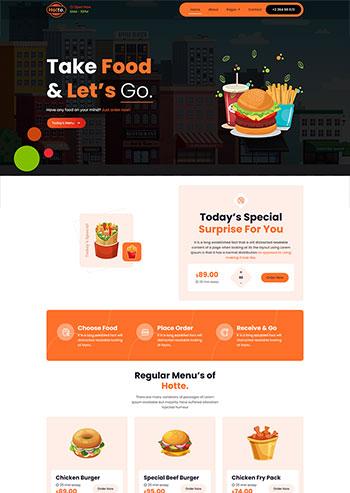 外卖快餐食品展示静态网页模板
