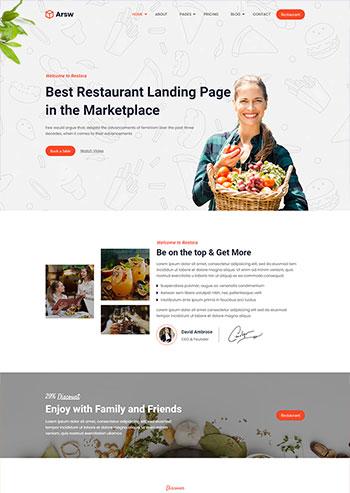 甜品美食餐厅展示静态网站HTML模板