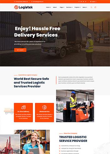 物流科技物流运输企业静态网站html模板