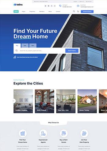多用途的房地产业务销售网站静态HTML模板