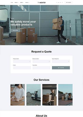 简洁的搬家快递公司静态网站html5模板