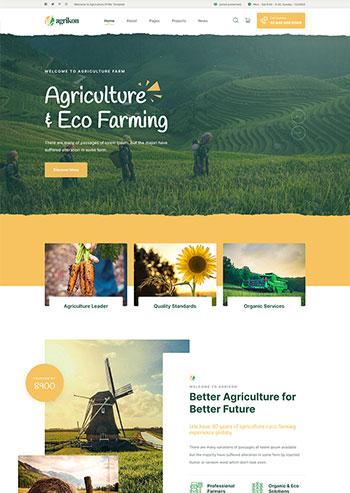 创意的农业生产种植企业网站HTML模板