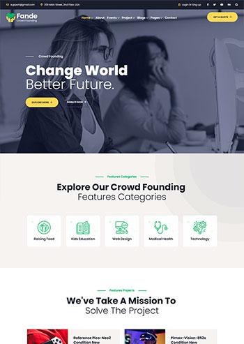 创业投资众筹平台静态HTML5模板
