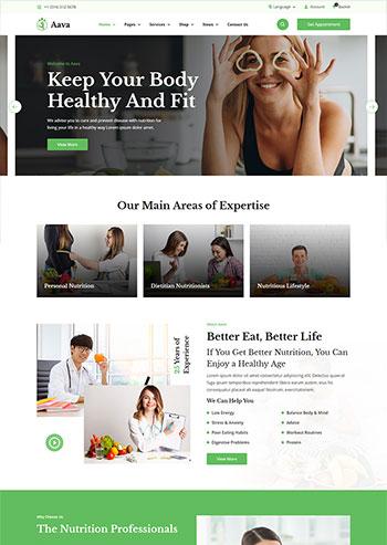 绿色风格响应式健康减肥饮食方案静态网站HTML5模板