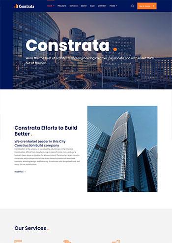 房产建筑工程企业静态html5网站模板
