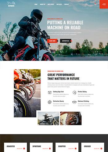高端品牌摩托车销售公司网站HTML5模板
