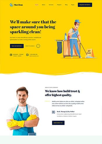 临时工清洁保洁家政公司静态html网站模板
